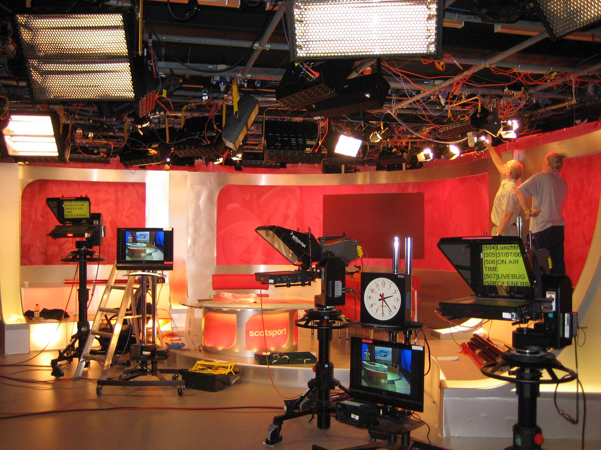 an introduction to the television studio lighting The film and television studio has four 1080i broadcast quality cameras on pedestals, a composite studio floor and full lighting rig enclosed by drapes.